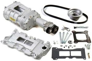 Weiand Supercharger System Roots 142 Series Satin Chevy Small Block Kit 6503 1