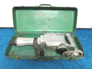 Hitachi H65 1 1 8 Hex Demolition Jack Hammer Used W Metal Case