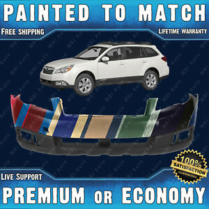 New Painted To Match Front Bumper Replacement For 2010 2012 Subaru Outback Wagon