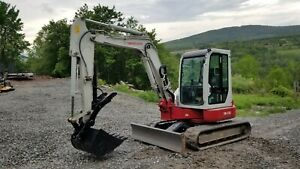 Takeuchi Tb135 Excavator Enclosed Cab Ready To Work We Ship And Finance