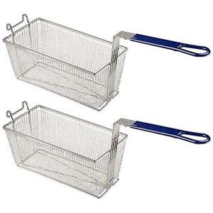 Pnr 13 1 4 X 6 1 2 6 Deep Fryer Basket With Non slip Handle Commercial Chip