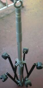 Iv Stand Pole 2 Hooks 5 Wheels Stable