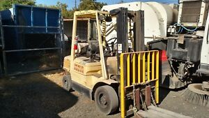 2006 Hyster H50xm Mast Forklift 5453 Hours Propane Powered Runs And Drives Great