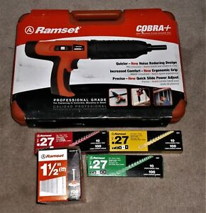 Ramset Cobra 16942 Tool 0 27 Caliber new Other 3 Boxes Of Loads