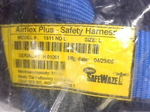 Safewaze Airflex Plus Safety Harness Sz Large Model 1511 Nd L