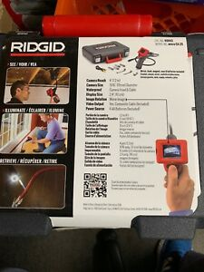 Micro Plumbing Drain Inspection Waterproof Camera Tool Lcd Display Ridgid Ca25