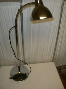 Chrome Doctor s Office Goose Neck Lamp Exam Light Gooseneck