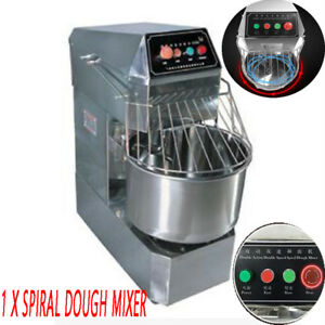 20l Commercial Home Action Double Speed Spiral Dough Mixer 75 X 70 X 88cm 1 1kw