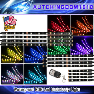 12pcs Motorcycle H d Led Neon Under Glow Lights Strip Kit For Kawasaki Ninja Usa