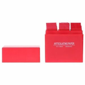 300 Sheets box Dental Articulating Paper Double Sided Strips Red Soft