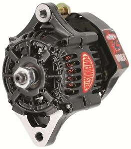 Powermaster Race Alternator 75 Amps Black Powdercoated 12v Nippondenso Case 8188