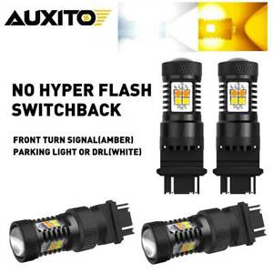 4x 3157 3457 4157na Led Switchback White Drl Yellow Turn Signal Light Bulb 16k A
