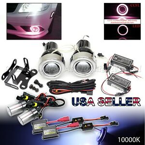 3 Red Ccfl Halo Projector Fog Lights Dual Switch For Chevy 10000k Blue Hid Kit