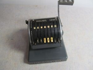 Vintage Paymaster X 900 Check Writer Machine W key