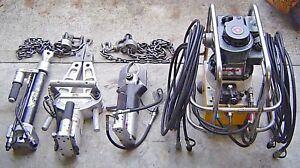 Amkus Rescue Systems B101 Hydraulic M30c Spreader M25b Cutter Ram Fire Tool Lot