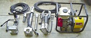 Amkus Rescue Systems Gh2a mb Hydraulic M25b Cutter 2 Ram Hoses Fire Tool Lot