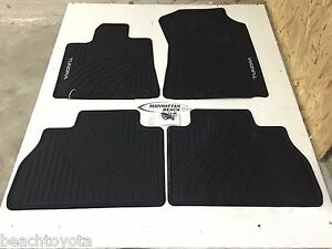2007 2011 Tundra Crew Max Double Cab All Weather Floor Mats Genuine Toyota