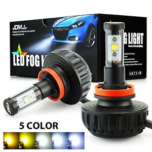 Jdm Astar 4400lm H11 H8 H9 High Power Cree 6000k 5 Color Diy Led Fog Light Bulbs