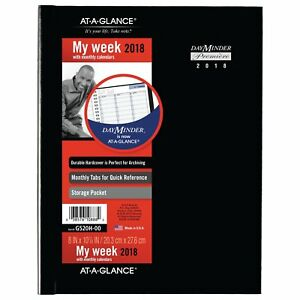 At a glance 11g520h0006 Hardcover Weekly Appointment Book 8 X 11 Black 2018