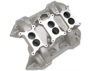 Edelbrock Chrysler 6 pack Intake Manifold 2475 Chrysler Rb Fits Stock Heads