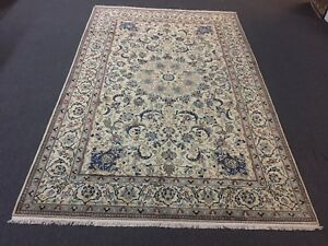 On Sale Fine Hand Knotted Persian Naein Naeen Silk Wool Rug Carpet 6 8 X10 5