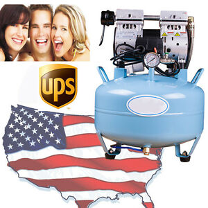 Usa Medical Noiseless Oilless Air Compressor 8mpa For Dental Chair 3 4hp Fda