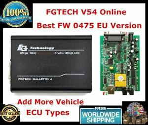 Fgtech Galletto 4 Master V54 Bdm Tricore Boot Obd Car Truck Ecu Chip Tuning Tool