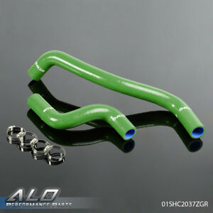 Silicone Radiator Hose Kit For Toyota Starlet Ep82 Glanza Gt Turbo 4e Fte Green