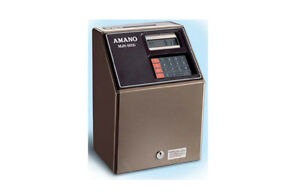 Amano Computerized Employee Time Clock Mjr 8000 Excelleent Condition
