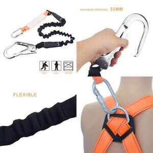 Fall Protection Rope Safety Harness Lanyard Scaffolding Shock Snap Hook Single