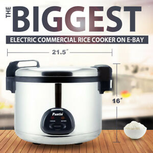 Pantin 110 Cup 55 Cup Raw 26l Commercial Biggest Electric Rice Cooker Warmer Etl
