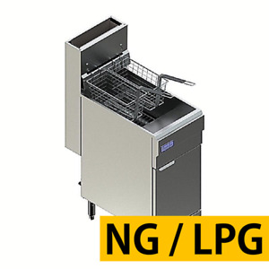 Pantin Commercial Gas 60 Lb Capacity Floor Model 4 Burner Deep Fryer 120 000 Btu