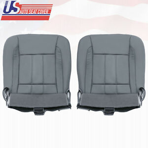 2006 2009 Dodge Ram 2500 Driver Passenger Side Bottom Leather Seat Covers Gray
