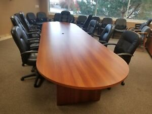 Tbl 010 Cherry 8ft Conference Table chairs Included
