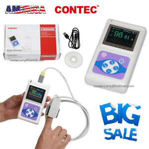 Contec Handheld Oled Fingertip Pulse Oximeter cms60d Adult Sp02 Probe Fda