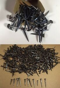 Vintage Rustic Solid Square Or Shank Cut Nails Different Sizes Small Jar