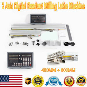 2 Axis Digital Readout Milling Lathe Machine Dro Kit Precision Linear Scale
