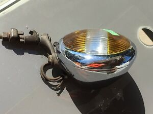 6vunity S 4 Fog Light Hot Rod Vintage Auto 2 Two Tone Glass Lamp Rat Rod Solid