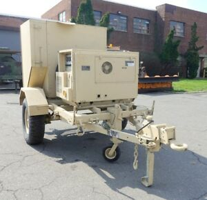 Diesel Engine Generator High Pressure Hot Water Jet Cleaner Trailer Mounted Army