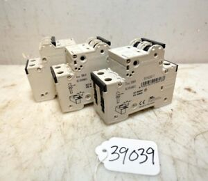 1 Lot Of 3 Siemens Circuit Breakers inv 39039