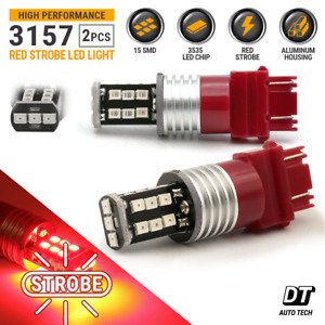 Syneticusa 3157 Led Strobe Flash Brake Tail Stop Light Parking Warning Bulbs