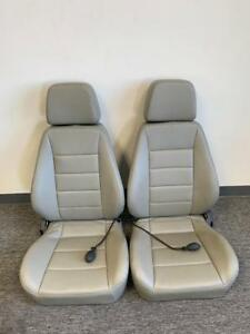 Corbeau Sport Grey Vinyl Reclining Seat Pair W Lumbar Support 90090 Blemished