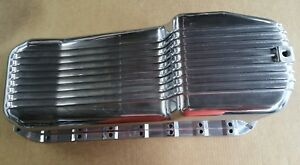 Oil Pan Polished Aluminum 1955 1979 Small Block Chevy Chevrolet 283 400 Finned