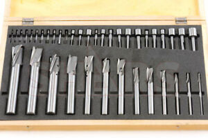 Shars 40 Pc 3 Flute Hss Straight Shank Interchangeable Pilot Counterbore Set New