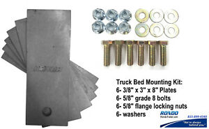 Universal Truck Bed Mounting Kit Steel Plate Grade 8 Bolt Ez Flat Bed Install
