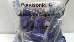 Qty 50 New Panasonic 100uf 250v Aluminum Electrolytic Radial Capacitor Genuine