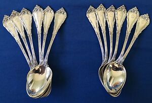 12 Coffee Demitasse Spoons Durgin Madame Royale Sterling Silver Duhme Jewelry
