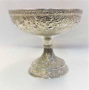 Antique Tiffany Repousse Sterling Silver Classical Bowl