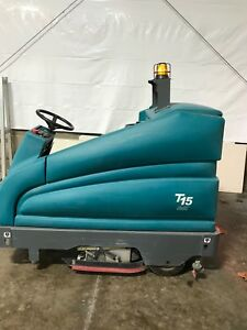 Reconditioned Tennant T15 36 Cylindrical Battery Rider Floor Scrubber