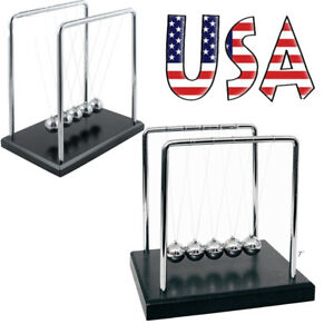 Usa Large Newtons Cradle Office Desk Toy Kenetic Education Gravity Balance Balls